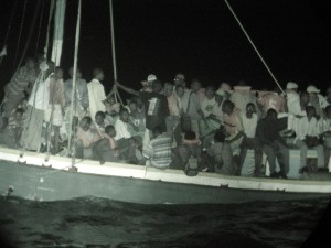 Haitian boat refugees seeking a better life in America